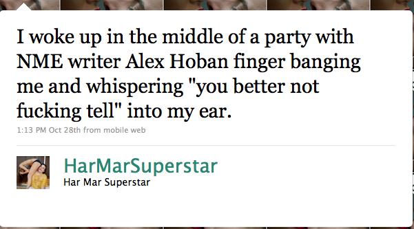 Har Mar Superstar Vs Alex Hoban and NME
