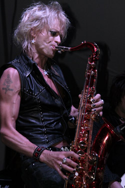 Michael Monroe of Hanoi Rocks at Maggie Mae's Rooftop