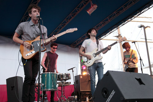Woven Bones and Beach Fossils at the Seaport Music Festival, NYC, 7.02.10