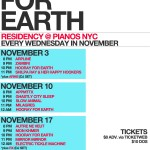 Hooray For Earth Kicks Off Their Piano's Residency